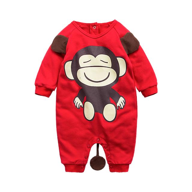 Roupas de bebê 2016 Novo Romper a Roupa Do Bebê Recém-nascido Da Menina do Menino de Manga Longa Romper Infantil para 0-24 meses