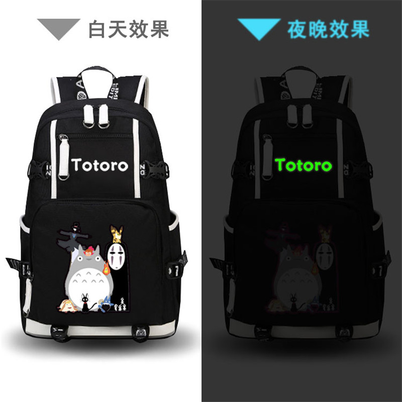 High Quality Anime My Neighbor Totoro Printing Backpack Canvas Kawaii School Bags Mochila Feminina Fashion Laptop Backpack anime my neighbor totoro printing