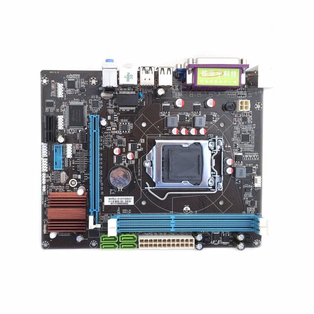 Professionnel H61 ordinateur de bureau carte mère carte mère LGA 1155 broches CPU Interface mise à niveau USB2.0 VGA DDR3 1600/1333