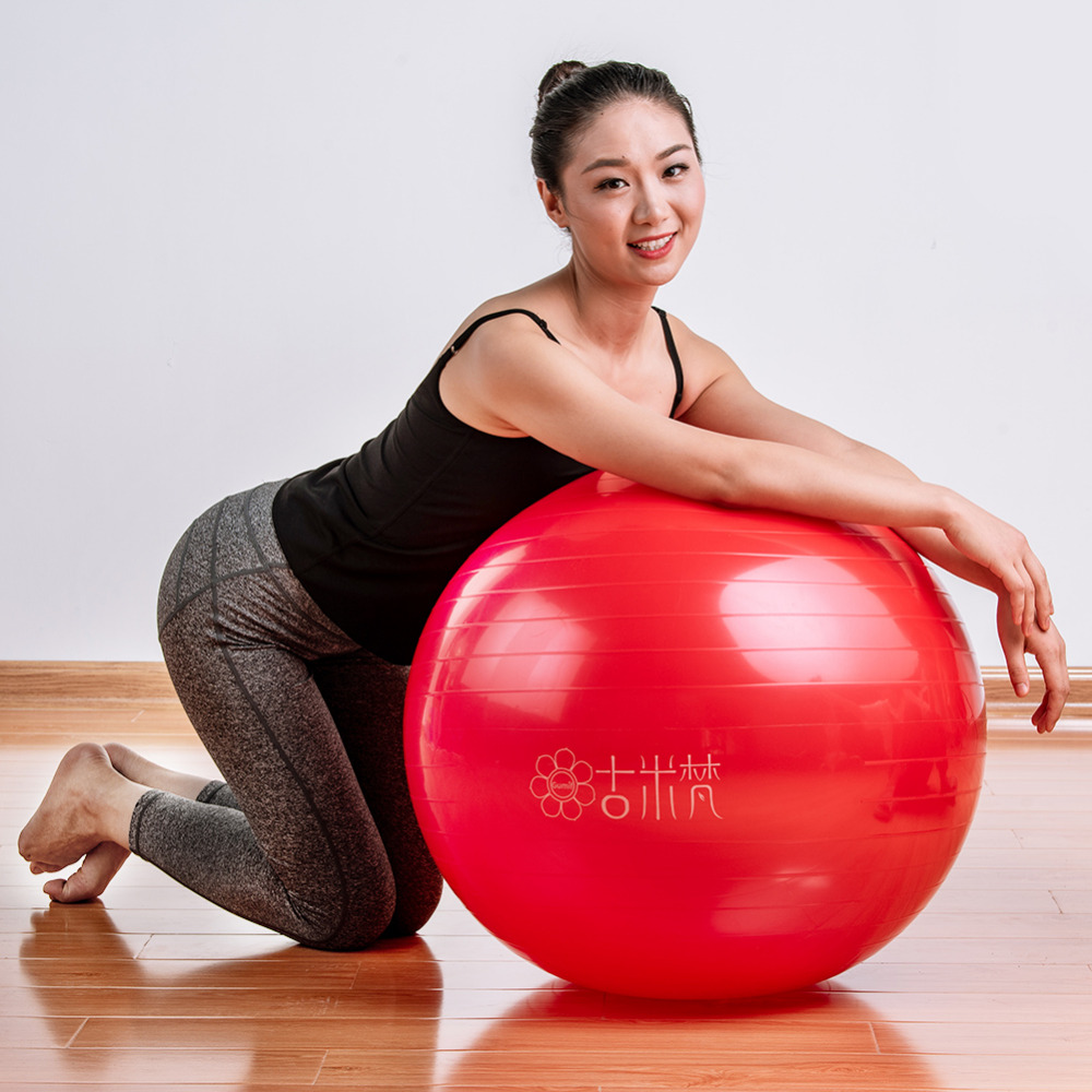 Sports Yoga Balls Bola Pilates Fitness Gym Balance Fitball Exercise Pilates Workout Massage Ball 55cm 65cm