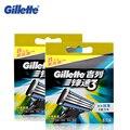 Gillette mach 3 lâminas de barbear lâminas de barbear para homens barbeador manual de navalha 8*2 recargas