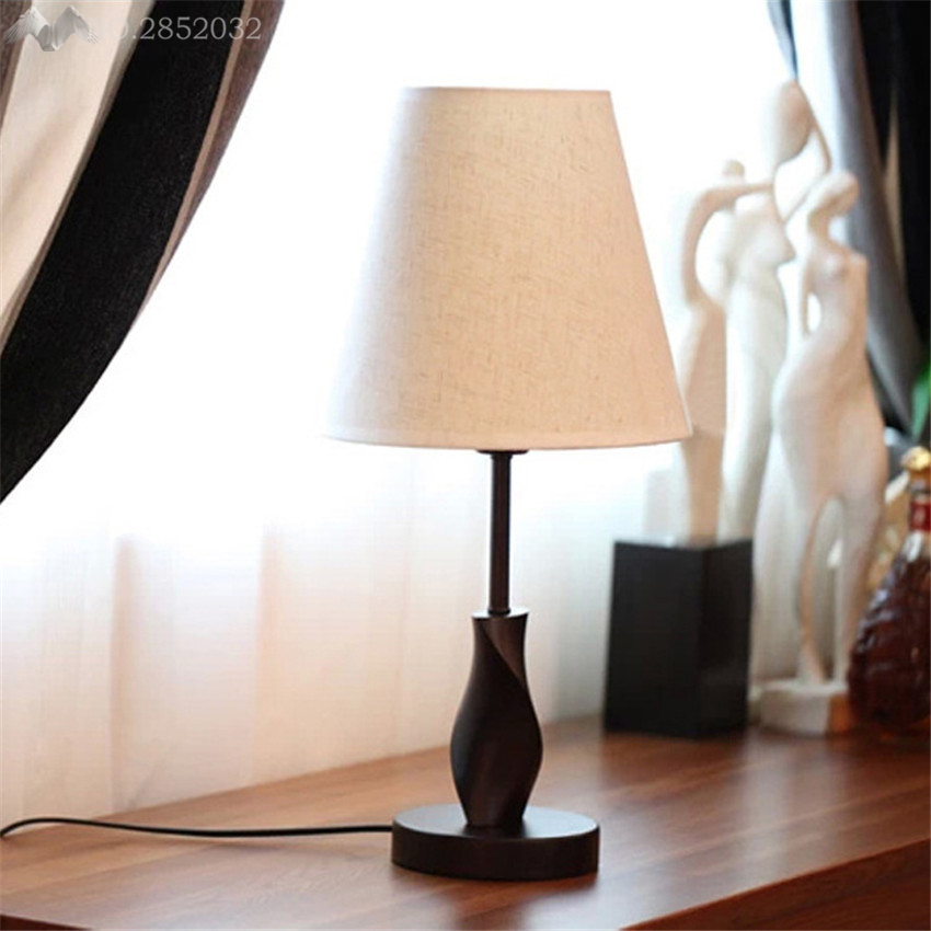 Modern Bedside Wood Table Lamps Wooden Base For Living Room Bedroom Home  Decor Study Small Desk Lamp Luminaria Lamparas In Table Lamps From Lights  ... Part 95