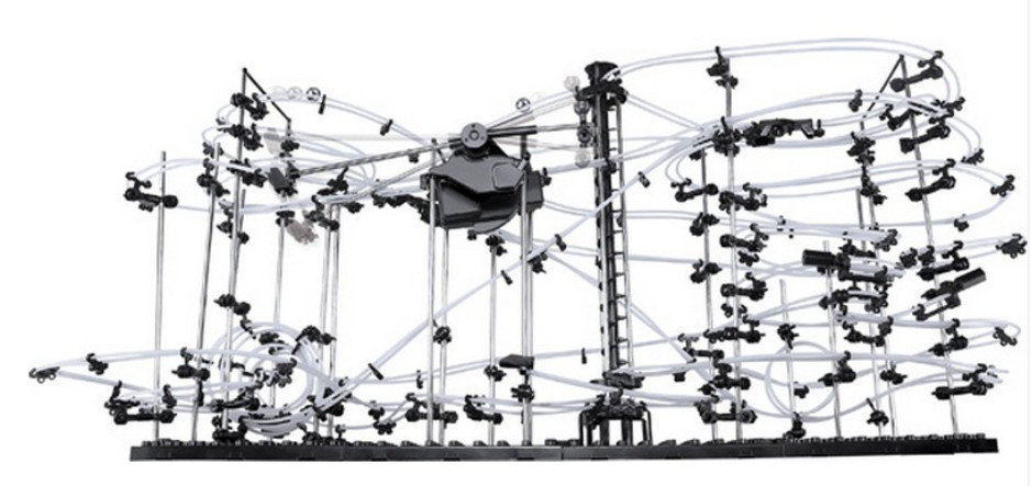 High Quality! New Space Rail Funny Model Building Kit RollerCoaster Toys SpaceRail Level 5, DIY Spacewarp Erector Set 32000mm