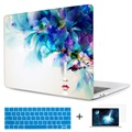 Abstract Girl Crystal Clear Print Case for Macbook Pro 13 15 A1708 Cover Protect Shell A1706/A1707 Touch Bar Laptop Bags