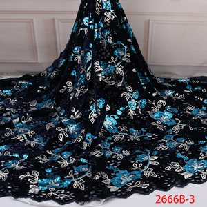 Image 5 - Бархатная кружевная ткань для платьев, новейшая нигерийская французская фатиновая кружевная ткань с пайетками, Высококачественная африканская кружевная ткань с блестками, для платьев, для вечеринок, на лето, 2019