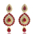 India Sistemas de la Joyería Plateado Serie Rhinestone de La Perla Ahueca Hacia Fuera la Única Tocado Tallado Declaración Vintage Collar Pendientes Establecidas