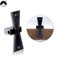 Dovetail Marker Aluminum Alloy Dovetail Guide Template 1:5 & 1:8 For DIY Wood Joints Gauge Woodworking Measuring Tool
