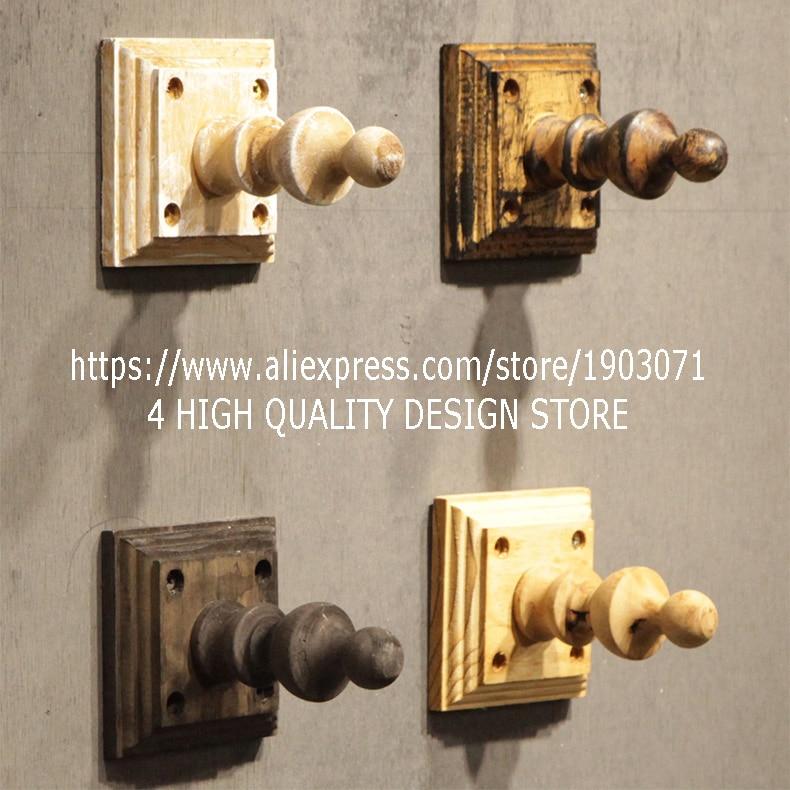 BEST QUALITY Home Decor Wall Mounted 4 Hook Hanger Wooden Hook Key Holder