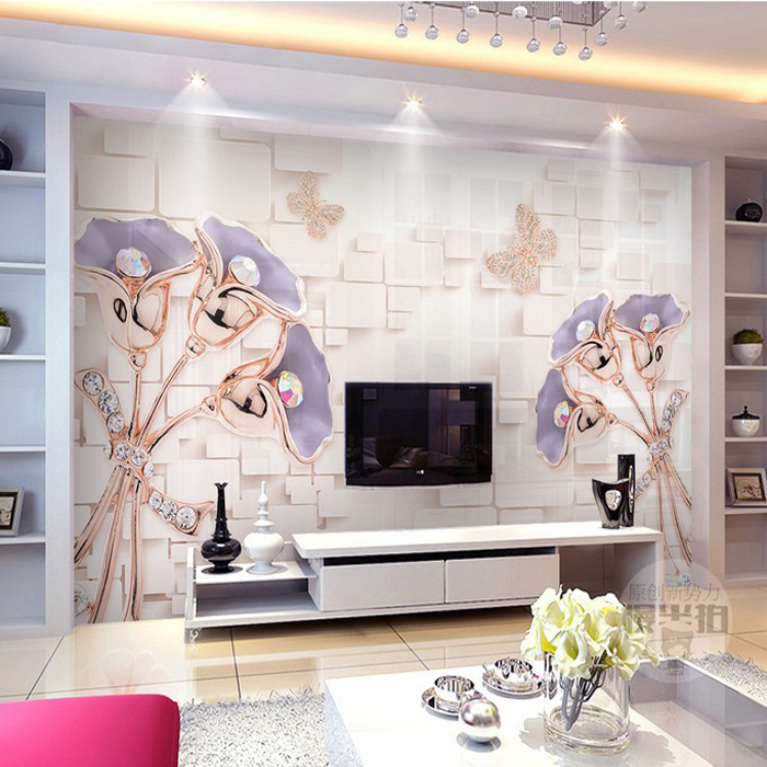 Customized 3d photo wallpaper 3d wall murals wallpaper Fantasy crystal butterfly jewellery background wall decor 3d living room mario fantasy sky background 3d wallpaper murals living room bedroom study paper 3d wallpaper