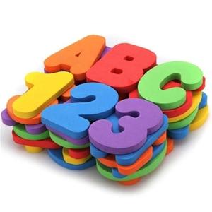 Bathtub Bathroom Education Learning Toys Foam Letters Alphanumeric Total Bubble Stickers Children's Puzzle DIY Toy Set 36Pcs New(China)