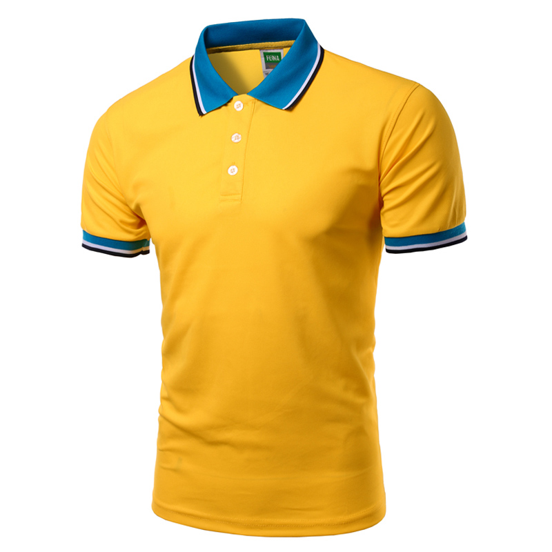 New 2016 classic short sleeve polo homme casual mens solid for Polo shirt logo design