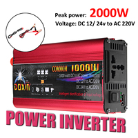 DOXIN High 2000w 220V 12V Universal Car Power Inverter Charger Converter Adapter/Home Inverters Power USB Plug Port Sine Wave