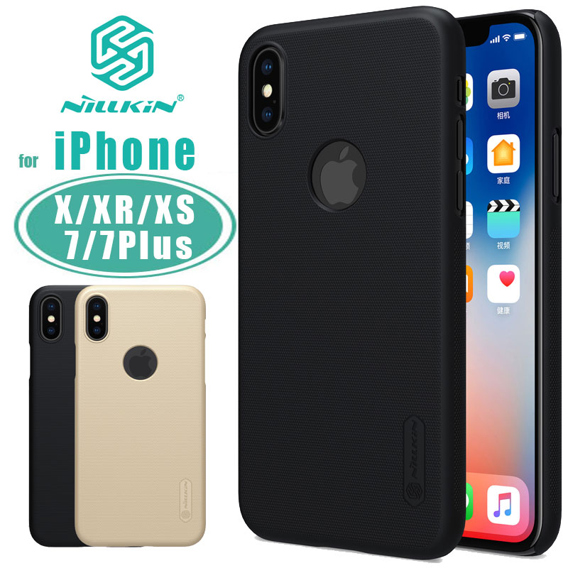 for iPhone X XR XS Max Case Nillkin Super Frosted Shield Phone Case Matte Capa Hard Back PC Cover for iPhone 7 Plus Nilkin Case
