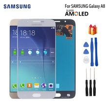 цена на AMOLED For SAMSUNG Galaxy A8 2015 LCD Display Touch Screen For Samsung A8000 A800 A800F Display Screen LCD Digitizer PhoneParts