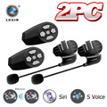 Newest 2016!!2pcs BT Bluetooth Headset Interphone Motorbike Motorcycle Helmet Intercom For 2 Riders Intercom+Siri Activate