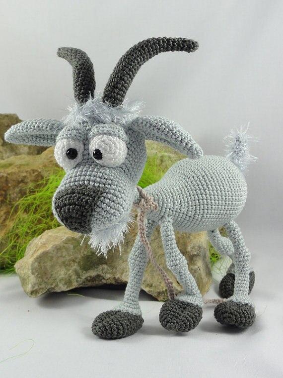 Amigurumi Crochet the Goat toy doll rattle amigurumi crochet doll pretty girl xingxing rattle toy