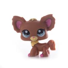 лучшая цена Lps Pet Shop Toy Free Shipping Brown Shorthair Cocker Spaniel Great Dane Tiger Lps Action Figure toys for children Best Gift