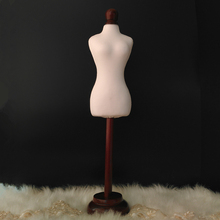 Half Size Dress Form 1/4 dress form Mannequin clothing draping mannequin cloth models with button wood ,M00019A