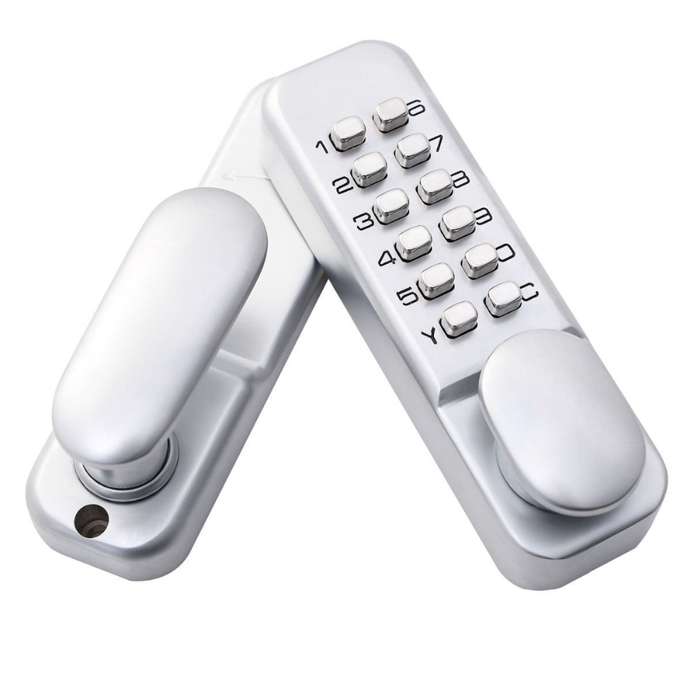ФОТО Keyless Mechanical Digital Push Button Door Lock Zinc Alloy Home Entry  Many styles