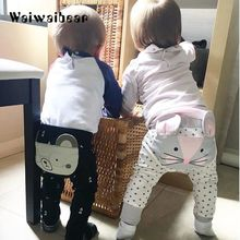 Hot Sale Spring and Autumn  Baby Pants Kids Clothing Harem Pants Cotton Owl Trousers Baby Pants For Boys And Girls недорого