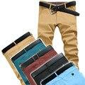2016 dos homens de Alta Qualidade Calças de Sarja Calças Dos Homens Moda Casual Calças Chinos 5 Cores Mens Casual Size28-38 989