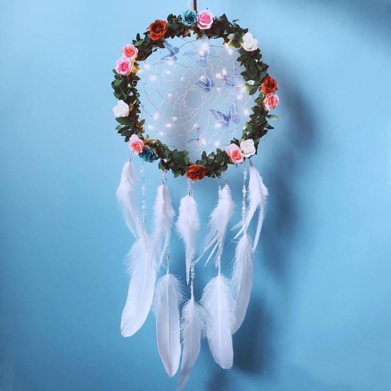 Led A Group Of Blue Butterflies Fairy Lights String Decoration Wedding Dream Catcher String Lights Outdoor Party Garden Garland