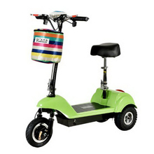 261005/Adult mini folding electric scooter / ladies battery car / two wheel scooter/Anti-skid handle/Mini electric car / все цены