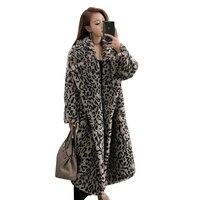100% натуральный мех пальто Для женщин Мишка длинные шерстяная куртка с мехом 2019 Новое поступление Роскошные шерстяная куртка Для женщин Зим