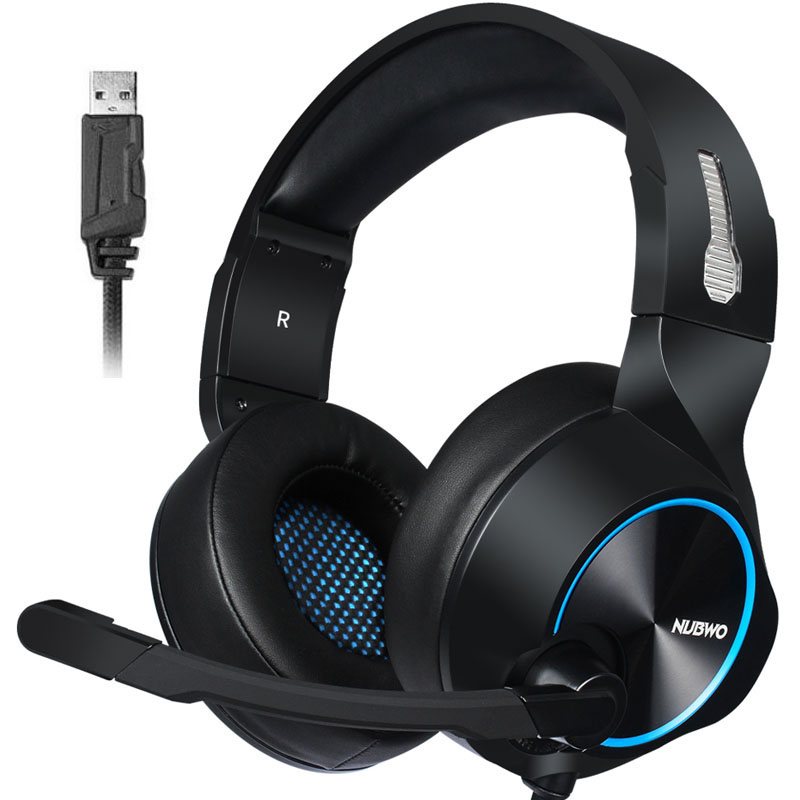 <font><b>Gaming</b></font> Headset 7,1 Sound Über-ohr Kopfhörer Kopfhörer <font><b>USB</b></font> mit Mikrofon Bass Stereo Laptop Computer Marke NUBWO N11 image