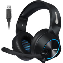 Gaming Headset 7.1 Sound Over-ear Headphone Earphone USB with Microphone Bass Stereo Laptop