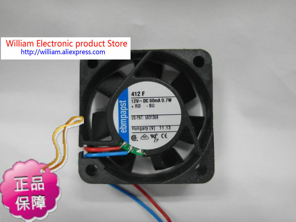 New Original ebmpapst TYP412F 4010 DC12V 0.7W precision instrument cooling fan