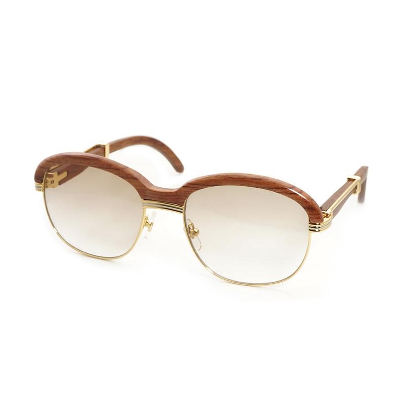Madera de lujo Warp Gafas Shades Gafas de sol mujer Gafas transparentes marco Gafas estilo Retro Gafas 16
