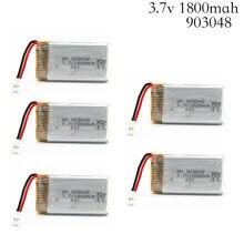 3.7 V 1800 Mah Lipo Batterij Rc Quadcopter Speelgoed Accessoires Onderdelen Voor KY601S Lipo Batterij 3.7 V 1800 Mah 903048 Lipo Batterij
