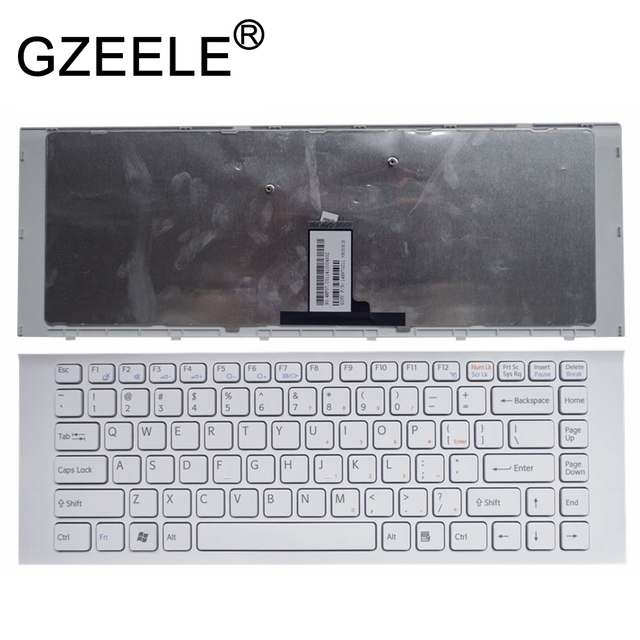"GZEELE חדש עבור SONY VAIO VPCEG11FX 9Z.N7ASW.101 9Z.N7ASM.002 VPC EG2CFX VPC EG2AGX VPC EG1AFX לבן ארה""ב אנגלית מקלדת"