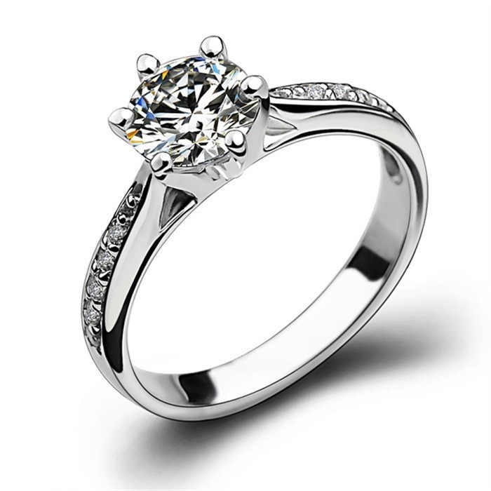 brand jewelry prong set engagement 925 sterling silver stone 5a zircon birthstone wedding band ring size 5 11 gift free shipping - Birthstone Wedding Rings