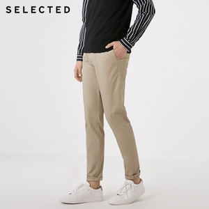 Image 2 - SELECTED New Mens Cotton Micro elastic Simple Business Casual Pants S
