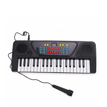 New 37 Keys Multifunctional Mini Electronic Keyboard Music Toy with Microphone Educational Electone Musical Toy Gift for Kids