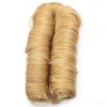 Dlme #27 Блондинка дважды утка натурального бразильского прямые Инструменты для завивки волос не пролил синтетические 28 шт. короткие Bump плетение волос для Для женщин