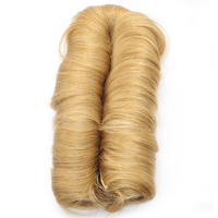New Arrived 27 Blonde Human In Hair Pieces 28 Pieces Short Bump Human In Hair For
