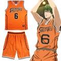 Anime Kuroko Baloncesto kuroko no Basuke Cosplay Midorima Shintaro Shutoku Baloncesto Jersey 6 Traje de Ropa Deportiva
