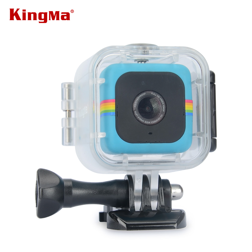 KingMa Transparent Waterproof Case for Polaroid Cube and Cube+ Action Video Camera Underwater 45M Waterproof Dive Housing case аксессуар крепление polaroid polc3wsm cube waterproof case with suction mount
