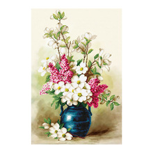 floral vase Diamond Painting Full Round White Pink New DIY Sticking Drill Cross Embroidery 5D simple Home Decoration