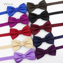Bowtie Men Butterfly Business Formal Fashion Classic Casual Solid Stylish Polyester Tuxedo