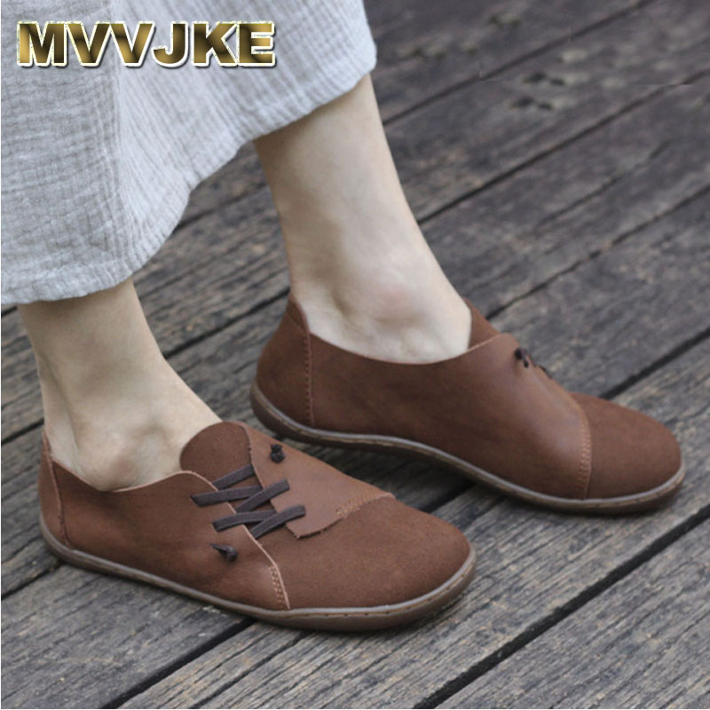MVVJKE Women s Shoes Hand made Slip on Ballet Flats Genuine Leather Ladies Flat Shoes Plain