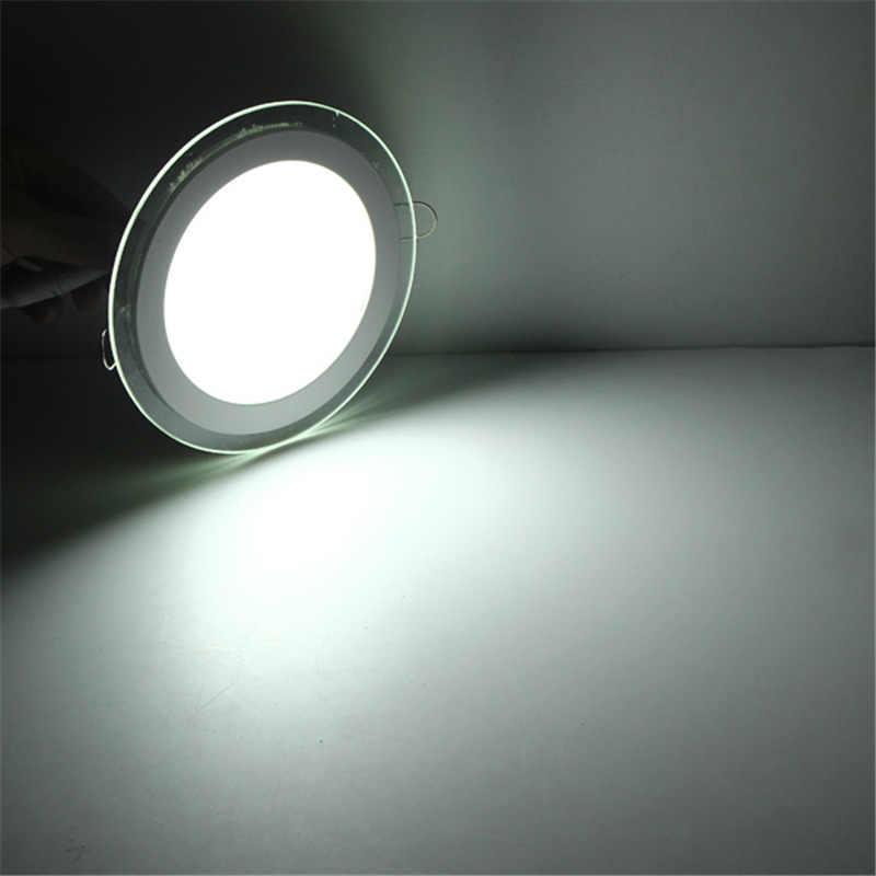 Gorąca sprzedaż wpuszczane panele oświetleniowe LED ściemniania SMD 5630 sufitowe lampy okrągłe lampy punktowe u nas państwo lampy LED Panel LED Downlight z pokrywą ze szkła