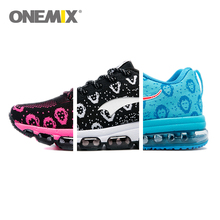 Onemix Cheap 2017 New Arrival Breathable Running Shoes for Women Pink Monkey Havol in Heaven Flywire Sport Sneakers Free Ship