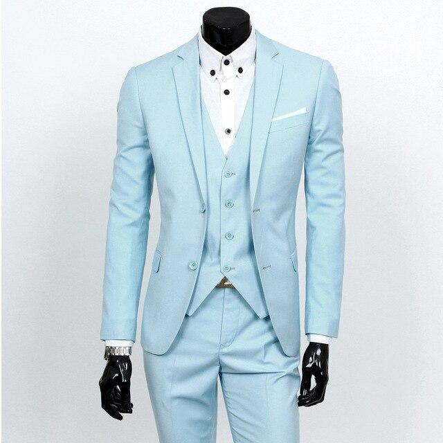 Traje Homme Men Suit Para O Casamento Slim Fit Estilo Gentleman Ternos dos homens Trajes De Hombres De Vestir Mais Recente Calça Casaco projetos