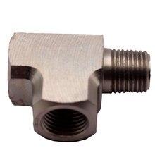 """Адаптер из мягкой стали, Т-образный фитинг 1/"""" BSPT для датчика давления воздуха, масла и воды"""