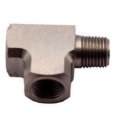 """Adaptador en T de acero suave, accesorio en T de 1/8 """"BSPT para medidor de Sensor de presión de agua y aceite de aire"""