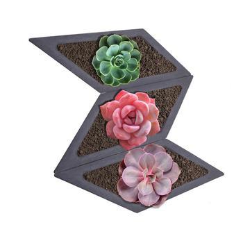 Moldes de silicona, combinación de rombo, máquina de flores en miniatura, cemento de carne múltiple, diseño de maceta 3d, molde creativo personalizado